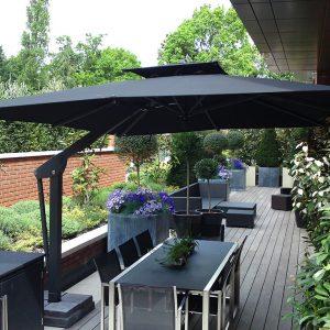 Black Terrace Parasol London