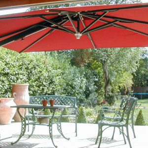 Burgundy Garden Umbrellas
