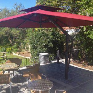 Large Burgundy Garden Umbrella