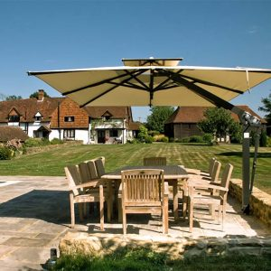 Ecru Side Arm Garden Parasol Surrey