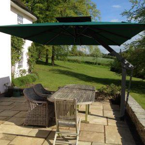 Green Side Post Garden Umbrella