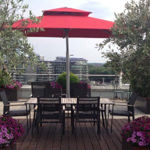 Rooftop Terrace Umbrellas
