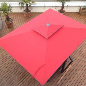 Red Garden Umbrellas