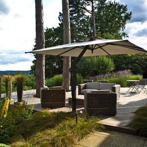 Grey Cantilever Garden Umbrella Guildford
