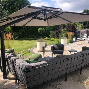 Grey Cantilever Garden Umbrella Marlow