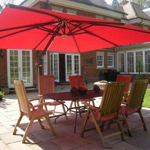 Red 4m Umbrella