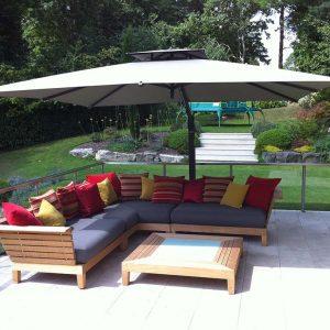 Large Taupe Umbrella Dorset