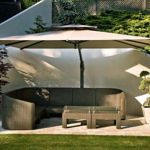 Luxury Garden Umbrella Taupe
