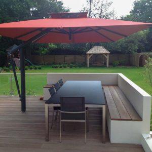 Large Terracotta Cantilever Umbrella - Kent