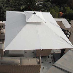 White Poggesi Umbrella From Above