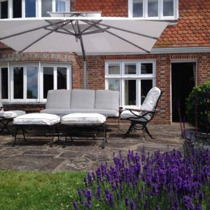 White Garden Umbrella