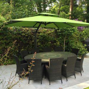 Lime Green Cantilever Garden Umbrella