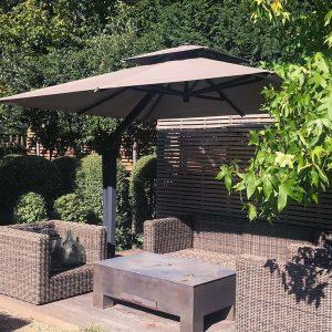 Taupe Cantilever Garden Parasol