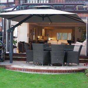 Taupe Side Arm Garden Umbrella - London