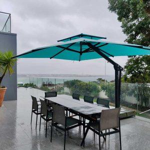 Aqua Blue Garden Parasol